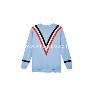 Women's Knitted Intarsia Set Outfits Tracksuit Pullover