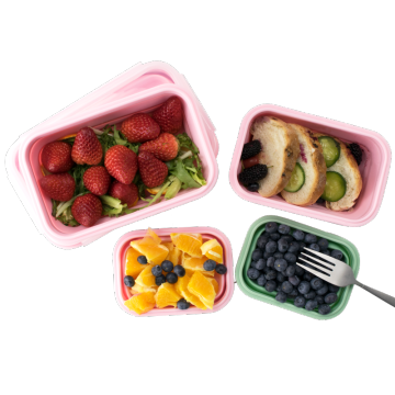 Colorful Silicone Food Storage Lunch Boxes for Home
