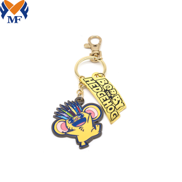 Metal Custom Cartoon Your Design Keychain