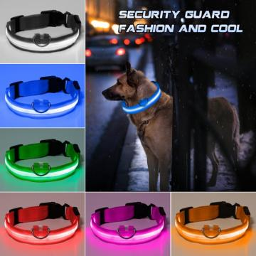 5 Sizes Battery Led Dog Collar Anti-Lost/ Car Accident Avoid Collar For Dogs Puppies Dog Cats Collars Luminous Pet Supplies