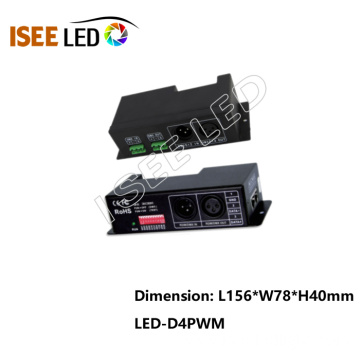 LED rgb dmx decoder 4 channel LED dimmer