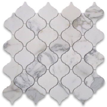 Lantern Shaped Marble Stone Mosaic Wall Tiles