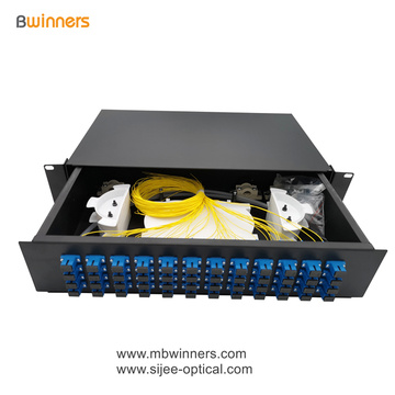 2U 48 Cores SC Fiber Optic Termination Box Patch Panel