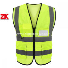 Airport reflective hi vis yellow safety vest