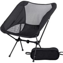 Black Ultralight Portable Camping Chair folding