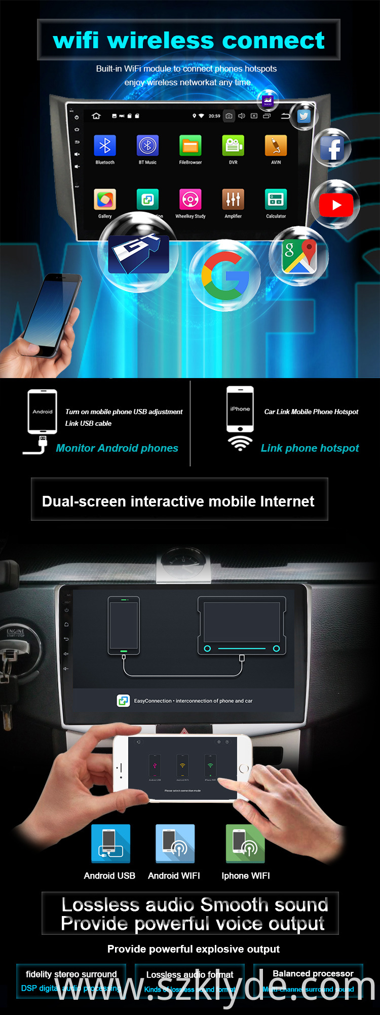 Android 9.0 car multimedia system for Outlander