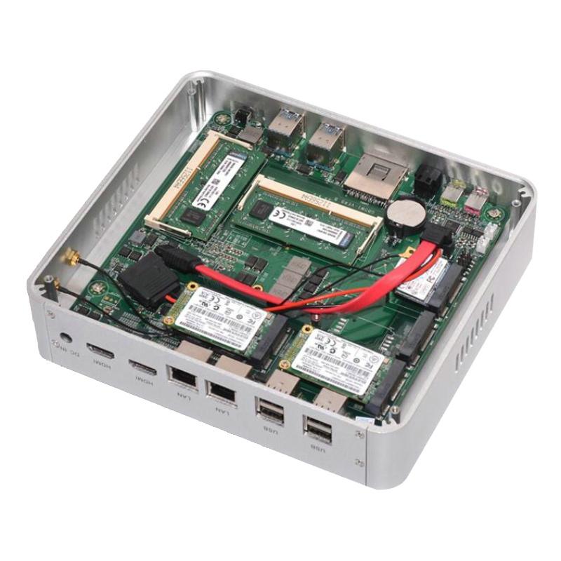 Windows 10 Mini PC with Intel Core i7 4500U/4650U Graphics Iris 6100 4K HDMI VGA 300M Wifi Fanless Pocket PC Barebone Computer