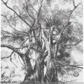 Glass Mosaic Black And White Tree Art Mural