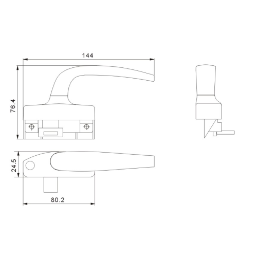 Aluminum Sliding Window And Door Hardware Handle