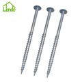 Easily Assembled Ground Screw Pole Anchor