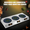 Commercial Induction Cooktops Electric Ceramic Stove Multi-head Three Induction Cookers Electromagnetic Oven 2500w*3