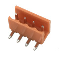 3.96mm pitch PCB mounting 4pin orange terminal connector