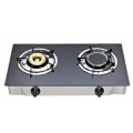 Gray Tempered Glass Gas Stove With 2 Burners