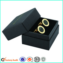 Cardboard Cufflink Packaging Black Gift Box