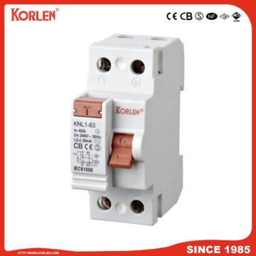 Residual Current Circuit Breaker KNL1-63 63A CE 2P