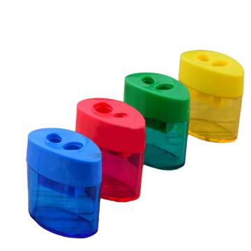 1PC Double Holes Pencil Sharpener Makeup Pencil Multifunctional Pencil Sharpener for Office School Supplies