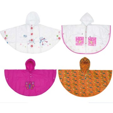 PVC Children customer design rain poncho