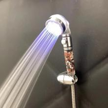 Best selling upc led hand filter shower head with temperature controlled for bathroom