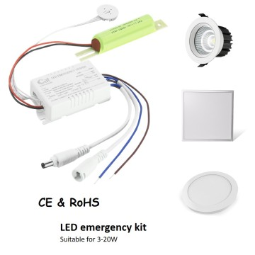 Security LED lamp emergency driver