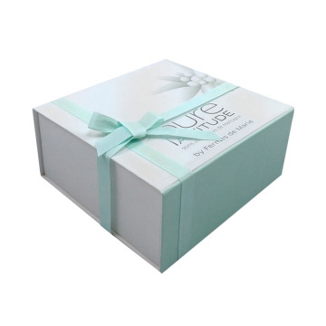 Custom Luxury Magnet Ribbon Folding Gift Paper Box
