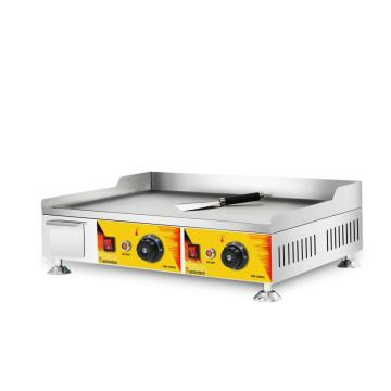 Chromium steel griddle commercial two head griddle
