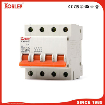 Miniature Circuit Breaker 4.5KA 63A 4P with SEMKO