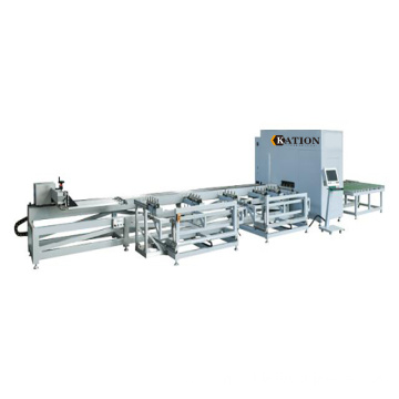 Plastic profile CNC sawing center