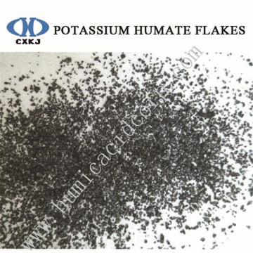 high soluble potassium humate flakes