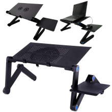 Cooling Fan Laptop desk Portable Adjustable Foldable Computer Desks Notebook Holder tv bed PC Lapdesk Table Stand With Mouse Pad