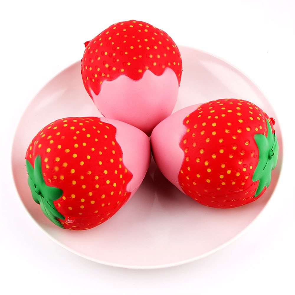 11.5cm Strawberry Squeeze Toys Scented Squishy Slow Rising Jumbo Collection squish stress reliever toys for children speelgoed