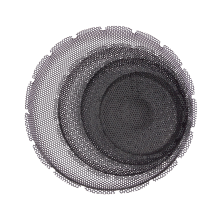 Audio mesh cover/dust cover