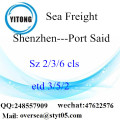 Shenzhen Port LCL Consolidation To Port Said
