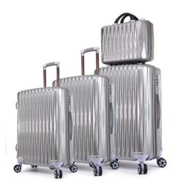 4 pcs Set Luggage Hard Side Lightweight Suitcase