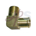 Brass 90 male flue elbow