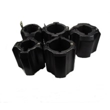Tubing rubber centralizer for centralizing the casing