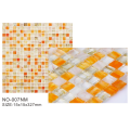 Popular products Orange Frosted glass mosaic tiles