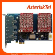 8 FXO Port AEX800 PCI-E Card,-FXO card - digium Asterisk Card Analog FXS FXO sangoma digium wildcard for VoIP PBX Phone System