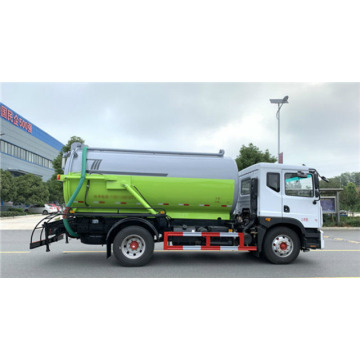 Cheap 12.8cbm suction sewage truck