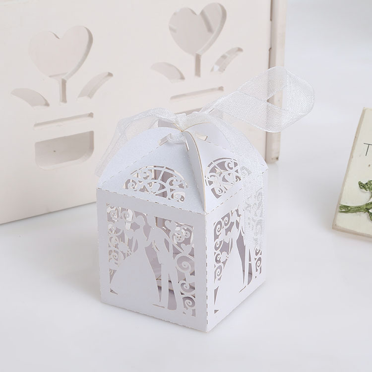 Square wedding candy chocolate box
