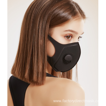 Polyurethane Sponge Face Mask with valve