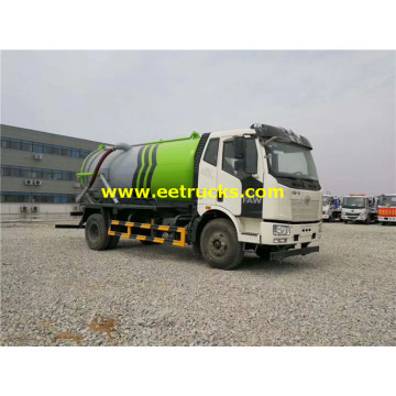 3000 Gallons FAW Vacuum Dung Suction Trucks