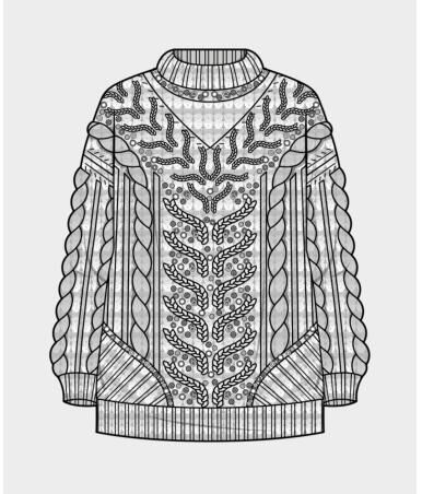 cable women's sweater design