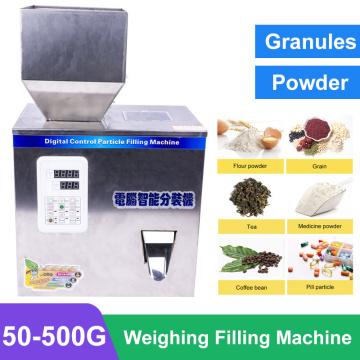 50-500G Intelligent Filling Machine Automatic Weighing Packaging Tea Seed Granule Filler Granular grain millet 220V