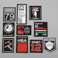 Patch Multi Color Lock Edge Wash Label Patches