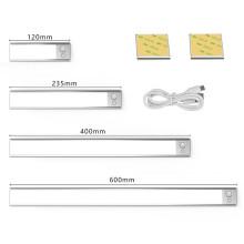 Ultra-thin 36/76/140LEDs PIR Motion Sensor Under Cabinet Light USB Rechargeable 3 Color Modes LED Wardrobe Closet night Lights