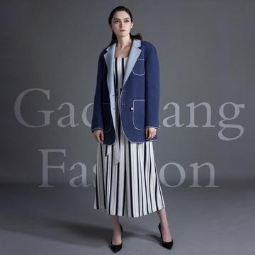Suit style cashmere overcoat