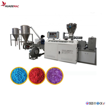 Plastic pellets hot cutting granulator line