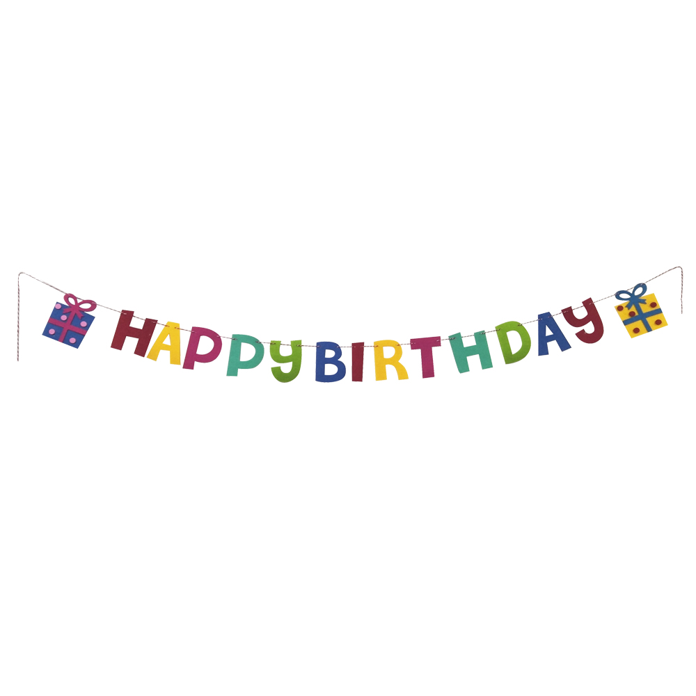 Rainbow Birthday Party Bunting Flag Banner
