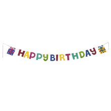 Rainbow birthday party bunting flag