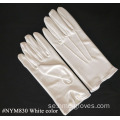 White Nylon Formal Mens Handskar med Snap Closure
